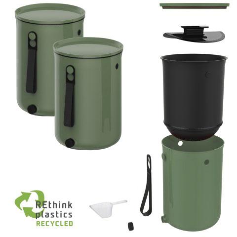 Bokashi 2.0 set olivengrøn
